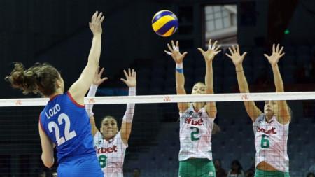 Българките победиха с 3:1 гейма Сърбия.