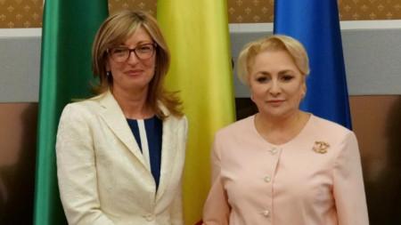 Екатерина Захариева и румънският премиер Виорика Дънчила