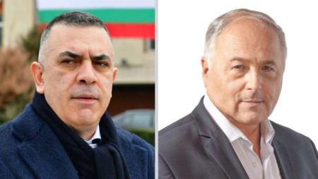 Стефан Радев (вляво) и Кольо Милев – БСП.