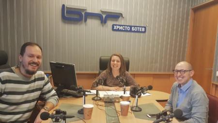 Андрей Ганев, Стефани Ангелова и Иван Комитски