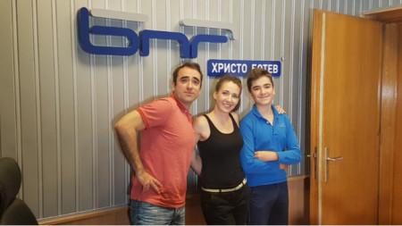 Драгомир Симеонов, Калина Станева и Павел Симеонов (отляво надясно)