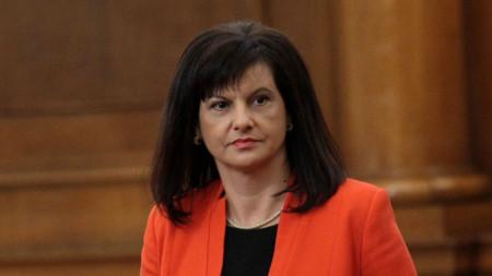 Председателят на парламентарната група на ГЕРБ д-р Даниела Дариткова