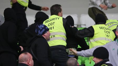 Сцена от инцидентите.