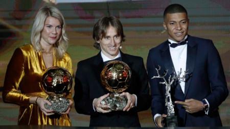 Лауреатите на вечерта в Париж. Носителката на първата