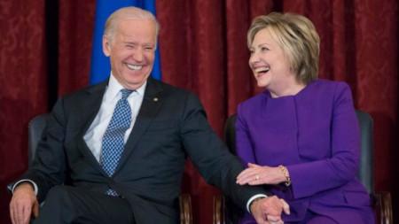 Джо Байдън и Хилъри Клинтън