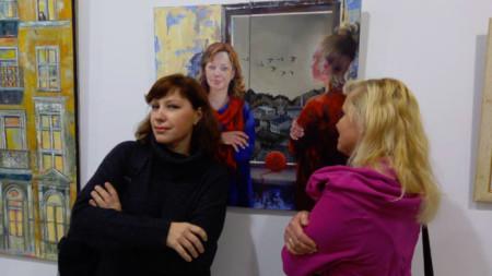 Картина Татьяны О′Махони, на которой изображены автор (справа) и Татьяна Пачгина