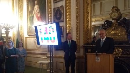 """Посланик Марин Райокв говори на приема в известната """"Ланкастър хаус"""", която сега е част от британското външно министерство."""