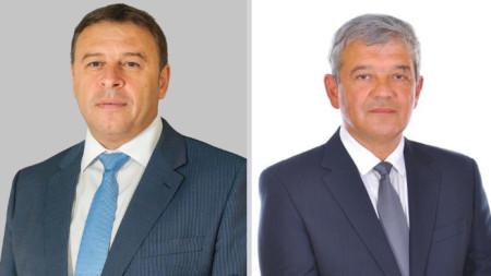 На балотаж за кмет на Благоевград са кандидатът на ГЕРБ Атанас Камбитов (вляво) и Румен Томов - независим.