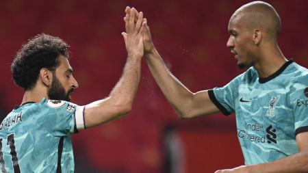 Мохамед Салах и Роберто Фирмино не пропуснаха да се разпишат във вратата на Манчестър Юнайтед за успеха на Ливърпул с 4:2
