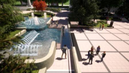 Проект на площада след реконструкцията