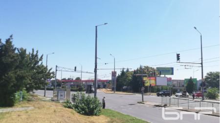 """Светофарът на спортна зала """"Стара Загора"""" (ДЗУ)"""