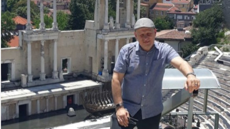 Ерик Уайнър в Античния театър в Пловдив