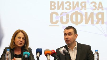 Столичният кмет Йорданка Фандъкова и главният архитект Здравко Здравков