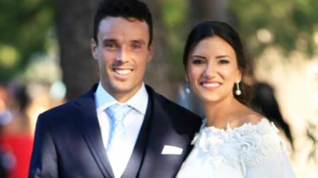Роберто и Ана на сватбата им