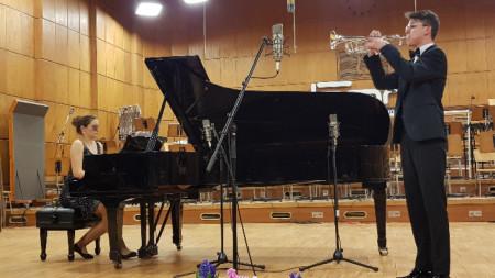 Мария-Десислава Стойчева и Георги Грозев в Първо студио на БНР