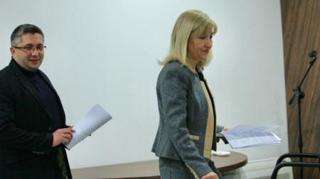 Министър Петя Аврамова и зам.-министър Николай Нанков