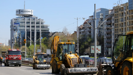 """От днес започва ремонтът на третия участък от бул.""""България"""" от бул. """"Гоце Делчев"""" до бул. """"Тодор Каблешков"""" с дължина около 1 км."""