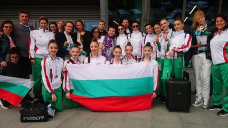 Българската делегация след отборното награждаване на ЕП