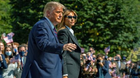 Тръмп със съпругата си Мелания, 29 септември 2020 г.