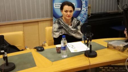 Грета Ганева в студиото на