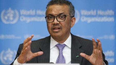 Тедрос Аданом Гебрейесус - генерален директор на Световната здравна организация.