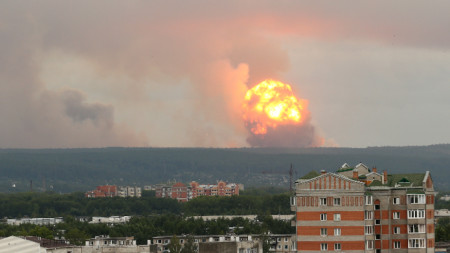 Взривовете край Ачинск на 5 август.