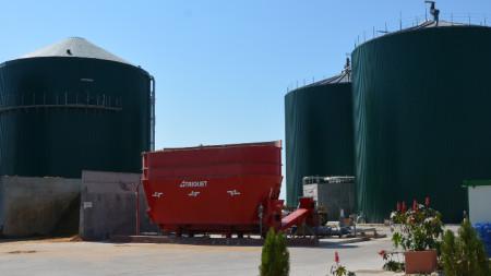 Централата за биогаз в село Труд