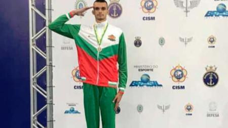 Владимир Далаклиев със сребърен медал на световното пъввество за военни в Рио де Женейро