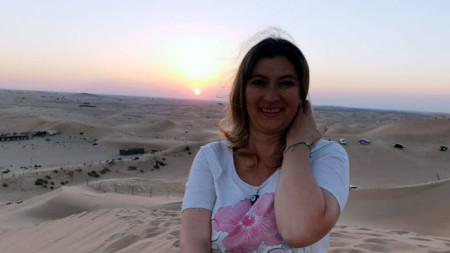 Кристина Димитрова Уилмот в пустинята