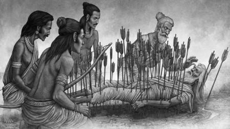 """Една от илюстрациите на художника Пенко Гелев в новото българско издание на """"Махабхарата"""""""