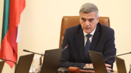 Премиерът Стефан Янев на Съвета по сигурността към правителството