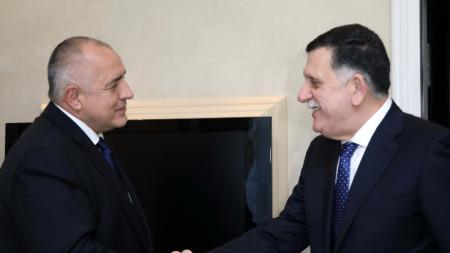 Бойко Борисов се срещна в Мюнхен с министър-председателя на Държавата Либия Файез Сарадж