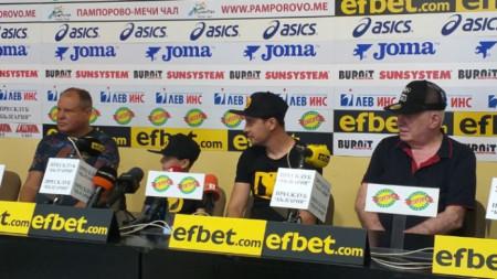 Петър Лесов, Детелин Далаклиев и Ангел Ангелов (отляво-надясно)