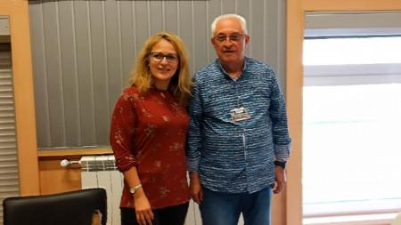 Мария Вълчанова и проф. Мирослав Попсавов