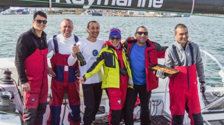 Екипажът на ветроходната яхта Espresso Matrini