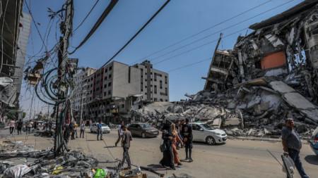 В Газа 1800 домове са негодни за живеене, а 1000 са били унищожени по време на 11-дневния конфликт.