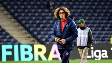 Божидар Краев преди мача в Порто.