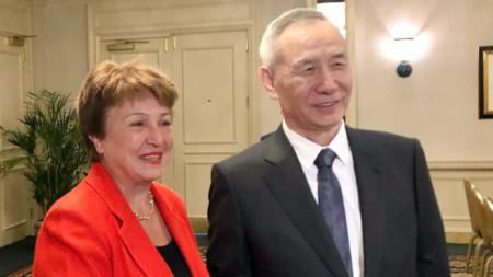 Кристалина Георгиева и Лю Хъ