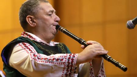 """Георги Иванов свири на концерта """"Изкуството на кавала"""" в Първо студио, 2018 г."""