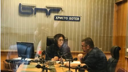Михайлина Павлова и Калин Ангелов в студиото на
