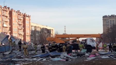 Мястото на взрива. Пресслужба на Министерство на извънредните ситуации на Северна Осетия