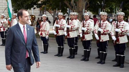 Ceremonia zyrtare e akreditimit të Ambasadorit Edon Cana në Pallatin Presidencial në Sofje