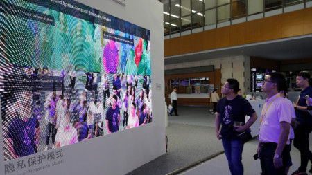 Демонстрация на лицево разпознаване в Китай.