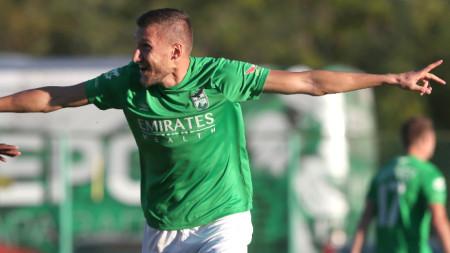 Преслав Йорданов вкара три гола, но Пирин отпадна от Берое за купата на България