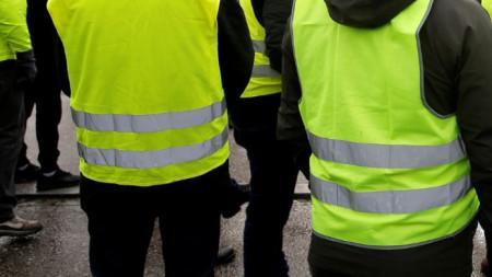 На протеста в Силистра носиха жълти жилетки.