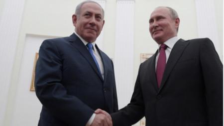 Бенямин Нетаняху и Владимир Путин