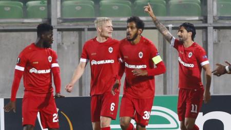 Футболистите на Антверп за втори път победиха Лудогорец в турнира Лига Европа