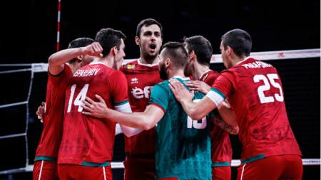 Националите играха добре до средата на третия гейм.