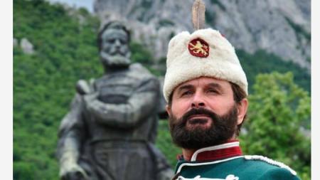 Филип Филипов в ролята на Христо Ботев