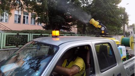 Пръскането в придунавските общини вече започна